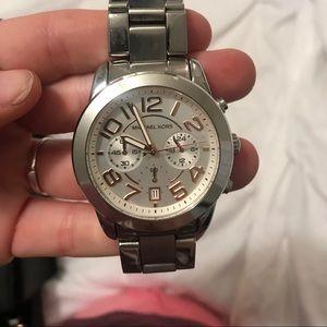 Sliver micheal kors watch